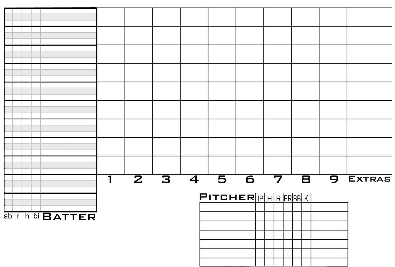 Free, downloadable, blank scorecards | The Ballpark Tour